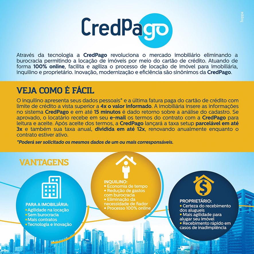 CredPago - Elimina a burocracia, permite pagamento através de cartão de crédito